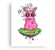 Murder Bunny Canvas Print