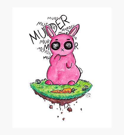 Murder Bunny Photographic Print