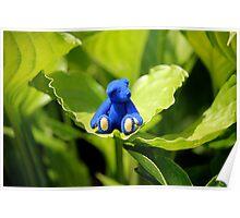 Blue Bear, Green Leaf Poster