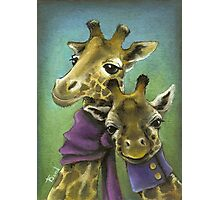Hipster giraffes Photographic Print