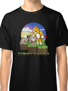 Mr Stampy cat and dogs at sunset Classic T-Shirt
