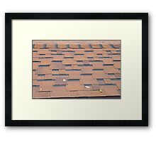 View from the roof shingles closeup brown Framed Print