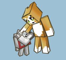 Stampy and Gregory the dog Kids Tee