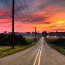 Countryside road  by Yelena Rozov