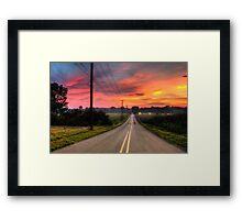 Countryside road  Framed Print