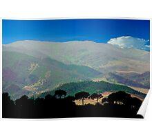 Sicilian Hillside Poster