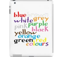Geek colours iPad Case/Skin