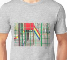 Empty playground in the park with autumn trees Unisex T-Shirt