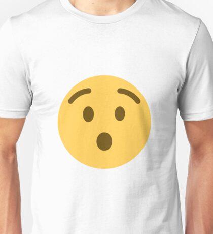 Hushed face emoji Unisex T-Shirt