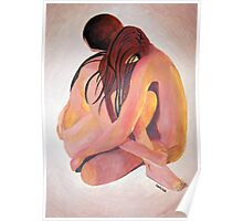 Intimate Couple Hugging and Staying In Touch  Poster