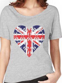 Union Jack Sherlock Wallpaper Heart Women's Relaxed Fit T-Shirt