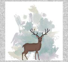 watercolour deer One Piece - Long Sleeve