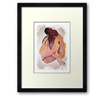Intimate Couple Hugging and Staying In Touch  Framed Print