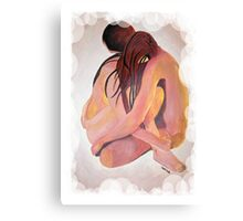 Intimate Couple Hugging and Staying In Touch  Canvas Print