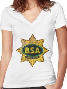 BSA GOLD STAR T SHIRT Women's Fitted V-Neck T-Shirt