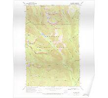 USGS Topo Map Washington State WA Mt Barney 242745 1969 24000 Poster