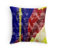 Painted Canvas Strips Throw Pillow