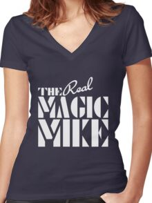 The REAL Magic Mike Women's Fitted V-Neck T-Shirt