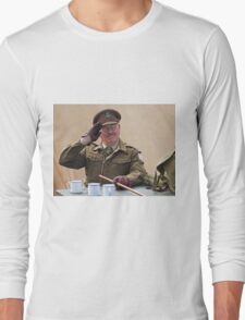 """You Stupid Boy"" (Captain Mannering - Dads Army) Long Sleeve T-Shirt"