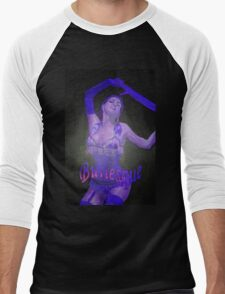 Female Strip Tease Artist Performing Blue Burlesque Men's Baseball ¾ T-Shirt