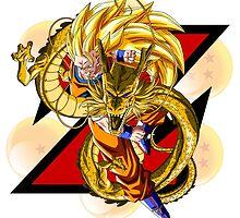 DBZ - Goku SSj3 by J. Danion