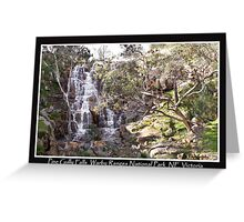 Pine Gully Falls North East Victoria Greeting Card