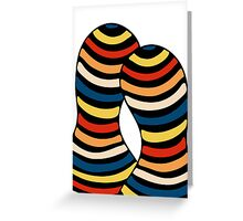 Modern Stripy Matching Couple Greeting Card