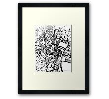 Arbitrary Milestones - Sketch Pen & Ink Illustration Framed Print