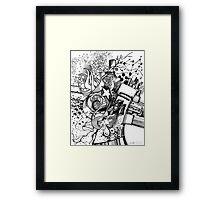 Arbitrary Milestones - Sketch Pen & Ink Illustration Framed Print