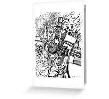 Arbitrary Milestones - Sketch Pen & Ink Illustration Greeting Card