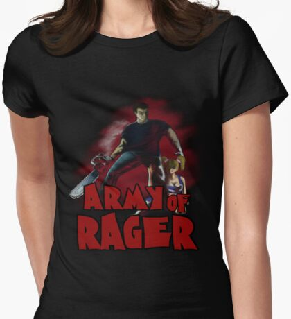 Army of Rager Logo Womens Fitted T-Shirt