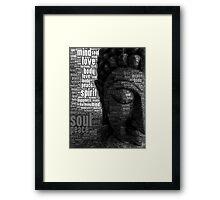 Buddha Words of Wisdom Framed Print