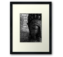 Buddha Words of Wisdom Framed Print