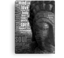 Buddha Words of Wisdom Metal Print