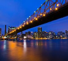 New York Ed Koch Queensboro Bridge at Night by Daisy Yeung