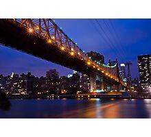 New York Ed Koch Queensboro Bridge at Night Too Photographic Print