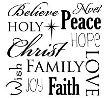 Belive, peace, noel family, christmas quote by Winkham