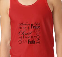 Belive, peace, noel family, christmas quote Tank Top