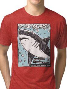 BJJ Shark Tri-blend T-Shirt