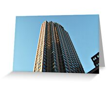Tower In The Sky - Sun in the Windows  Greeting Card