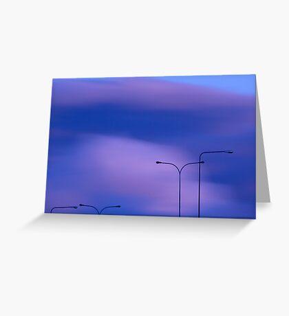 Sky and lightpoles Greeting Card