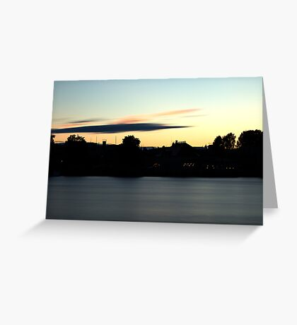 City in the evening Greeting Card