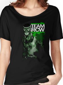 "TEAM RCW ""Fight the Power"" Marvel Women's Relaxed Fit T-Shirt"