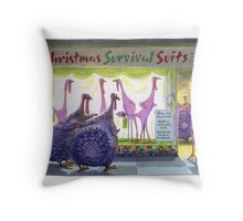 Survival Suits. Throw Pillow
