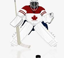Hockey Goalie Canada Team iPad /Case   iPhone 5 Case / iPhone 4 Case  / Samsung Galaxy Cases  by CroDesign