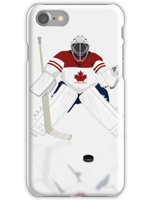 Hockey Goalie Canada Team iPad /Case   iPhone 5 Case / iPhone 4 Case  / Samsung Galaxy Cases  by CroDesign