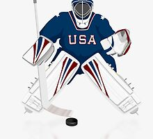 Hockey Goalie USA Team iPod / iPhone 5 Case / iPhone 4 Case / Samsung Galaxy Cases   by CroDesign