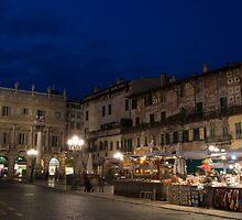 Piazza Erbe, Verona, Italy by Cliff Williams
