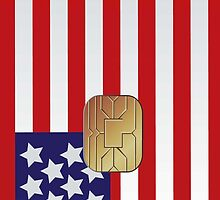 American Flag Smart Card iPod /   iPhone 5 Case / iPhone 4 Case  by CroDesign