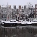 Snowy Amsterdam by Pim Kops